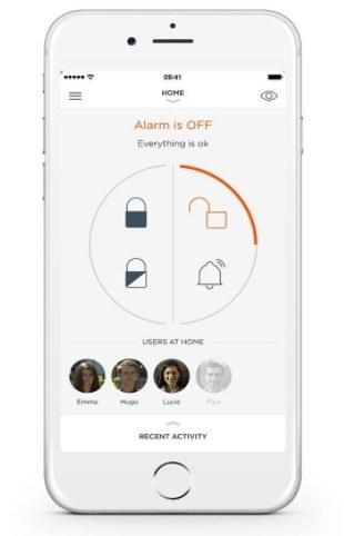 La gestion de la MyFox Home Alarm se fait directement sur votre smartphone